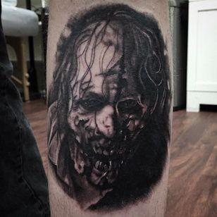 Walking Dead zombie tattoo by Shane Murphy. #blackandgrey #realism #horror #zombie #TheWalkingDead #ShaneMurphy