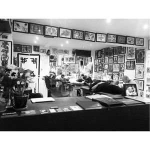 Inside Dharma Tattoo studio in London #MilesMonaghan #London #DharmaTattoo #tattoostudio