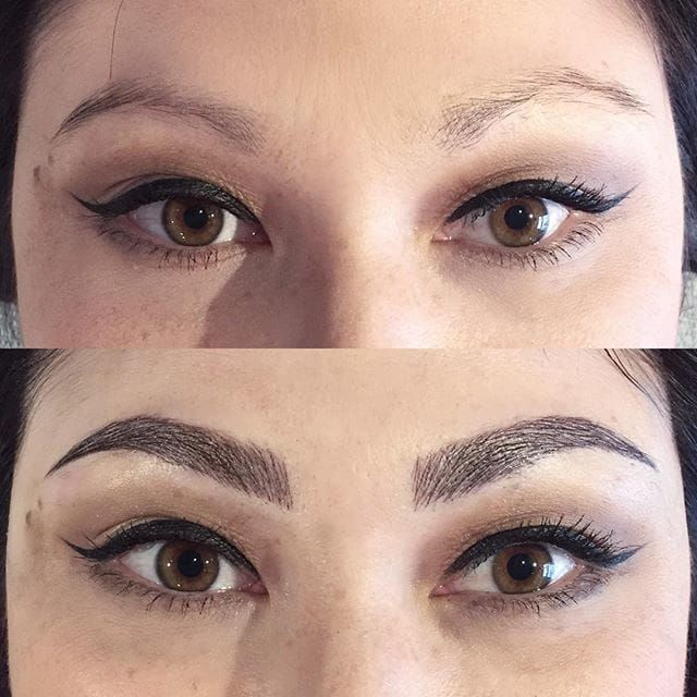 Cosmetic eyebrow tattooing, Image Source: Shaughnessy Keely #cosmetics #eyebrows #Microblading #consmetictattooing
