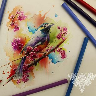 #passaro #bird #aquarela #watercolor #vareta #ilustradorvareta #coloridos #brasil #brazil #portugues #portuguese #desenhos #drawing