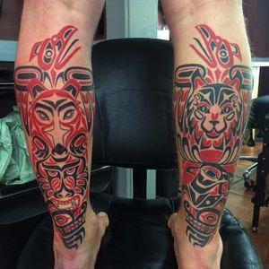 Totem Tattoo by Deano Robertson #haida #haidaart #northwestcoast #pacificnorthwest #nativeamerican #indigenousart #tribal #DeanoRobertson