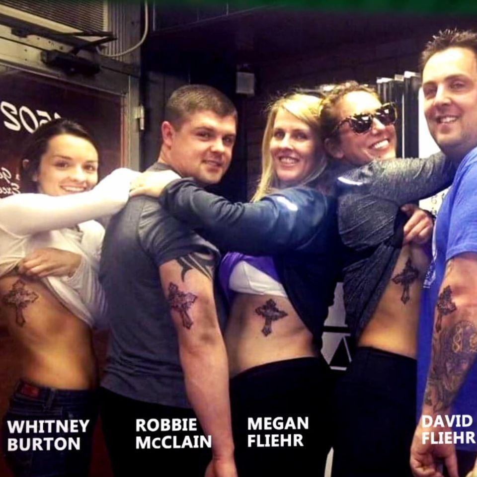 Those close to Reid Fliehr all got a tribute tattoo. #Charlotte #WWE #WWESuperstar