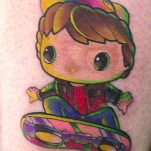 Funko Pop! Marty McFly tattoo. #backtothefuture #martymcfly #funko #funkotattoo #funkopop #funkopoptattoo