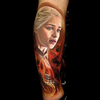 Color realism by Nikko Hurtado #NikkoHurtado #color #portrait #realism #got #gameofthrones #khaleesi #tattoooftheday