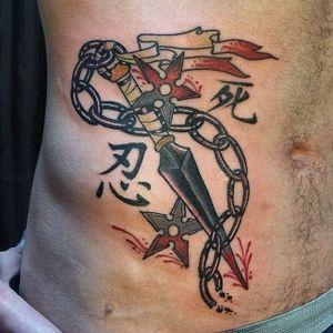 Kunai Tattoo by Chris Carp #kunai #kunaidagger #japaneseknife #japanese #gapfiller #weapon #ChrisCarp