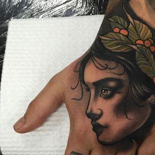 Tattoo by Tim Tavaria #neotraditional #realism #neotraditionalrealism #TimTavaria #girl