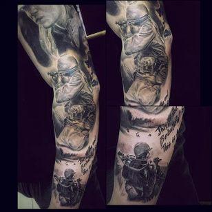Vietnam War sleeve by Anton Dainecko (via IG -- antonwhm08_tattoo) #antondainecko #vietnamwar #soldier