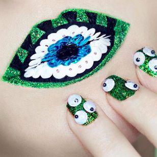 Eye Lip Art by @Ryankellymua #Lipart #Makeupart #Makeup #Ryankellymua #Eye