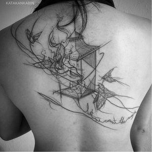 Candle tattoo by Katakankabin #Katakankabin #linework #sketch #abstract