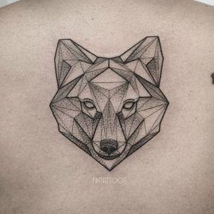 Fox tattoo by Fin T. #FinT #malaysia #geometric #animal #origami #pointillism #dotwork #fox