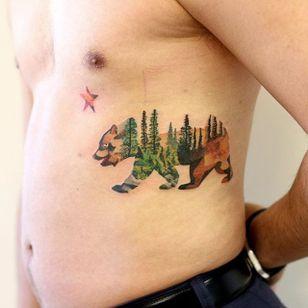 California Tattoo by Martynas Šnioka #california #californiatattoo #watercolor #watercolortattoo #abstract #abstracttattoo #graphic #graphictattoo #lithuanian #MartynasSnioka