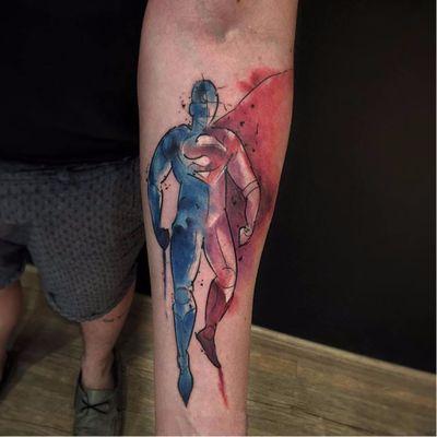 Super Man nos traços de Felipe Eric! #FelipeEric #LigadaJustiça #JusticeLeague #movie #filme #comic #hq #cartoon #nerd #geek #superman #superhomem #aquarela #watercolor #TatuadoresDoBrasil