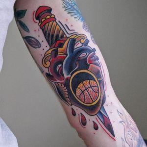 Heart of basketball. (via IG - basketmania_store) #Basketball #BasketballTattoo #BasketballTattoos #NBA