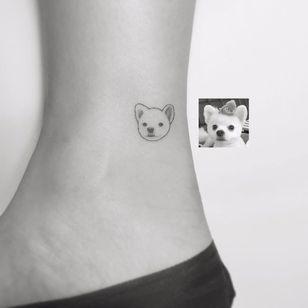 Por Playground Tattoo #PlaygroundTattoo #gringo #cute #fofo #minimalista #minimalist #small #pequeno #fineline #dog #cachorro #pet #petlover #doglover