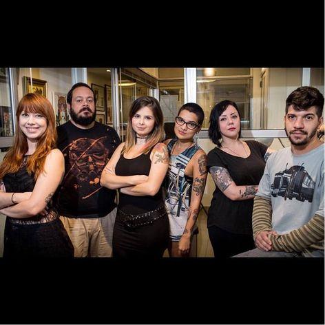 A equipe da ART LINE! #LuizaFortes #tatuagensColoridas #colorful #fineline #traços #minimalista #artistaNacional #brasil