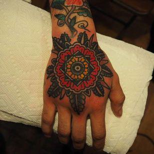 Beautiful flower mandala tattoo by Or Kantor. #OrKantor #flower #Mandala