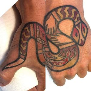 Snake Tattoo by Tatu Lu #snake #aboriginal #aboriginalart #aboriginalartist #australian #australianartist #culturalart #TatuLu