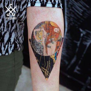 Gorgeous Klimt inspired tattoo by Alexey Buzunov #fineartists #AlexeyBuzunov #klimt #painter #painting #fineart #masterpiece #art #museum
