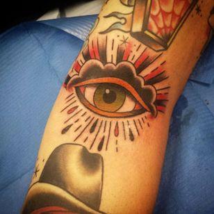 Tattoo by Katie Foster #Eye #traditional #allseeingeye #oldschool #KatieFoster