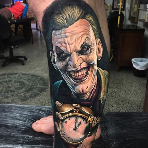 The Joker. (via IG - dbkaye) #benkaye #character #portrait #realism #thejoker