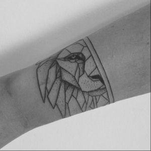 Geometric lion tattoo #geometric #geometry #lion #linework #blackwork #blckwrk #btattooing #geometriclion #minimalism #stmarysink