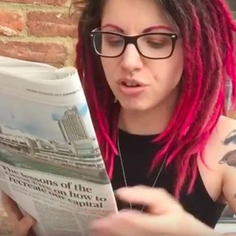 Holly Astral tattoo video #HollyAstral #tattoos #policeforce #vlogger