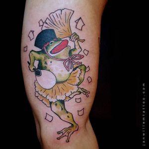 Frog Tattoo by Jan Willem #frog #japanesefrog #japanese #traditionaljapanese #irezumi #JanWillem
