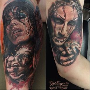 Stunning tattoos by Sergey Shanko #SergeyShanko #realistic #photorealistic #portrait