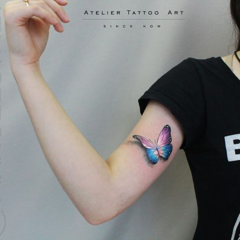 Borboleta por Marcelo Ret! #MarceloRet #TatuadoresBrasileiros #TatuadoresdoBrasil #TattooBr #TattoodoBr #butterfly #borboleta