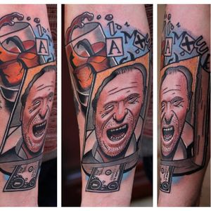 Bukowski tattoo by Bartek Kos #bukowski #CharlesBukowski #BartekKos #literature #writer #poet #book