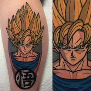 Goku. #AdamPerjatel #perjateltattoo #anime #traditional #traditionalamerican #dragonball