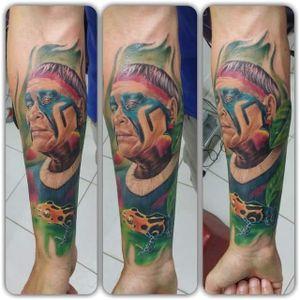 #indio #indigena #sapo #MaxCampos #realismo #TalentoNacional #ElectricInk #brasil