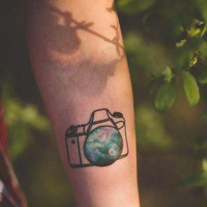 Sonja's photography tattoo. #photography #camera #photo #photographer #contemporaryart