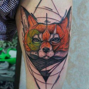 Sketch Style Fox Head Tattoo by Damian Thür @MrCoffee85 #DamianThür #Sketchstyle #sketchstyletattoo #Fox
