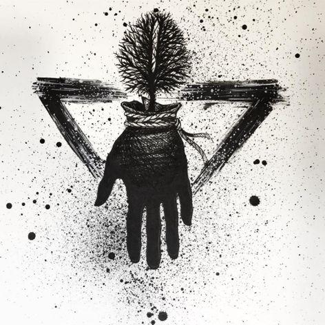 One of Sake's surreal illustrations of hands (IG—sakestc). #fineart #hand #Sake #silhouettes #tree