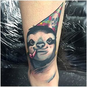 Sloth Tattoo by Joseph Matisa #sloth #slothtattoo #slothtattoos #animaltattoos #animal #funtattoos #charismatictattoos #JosephMatisa