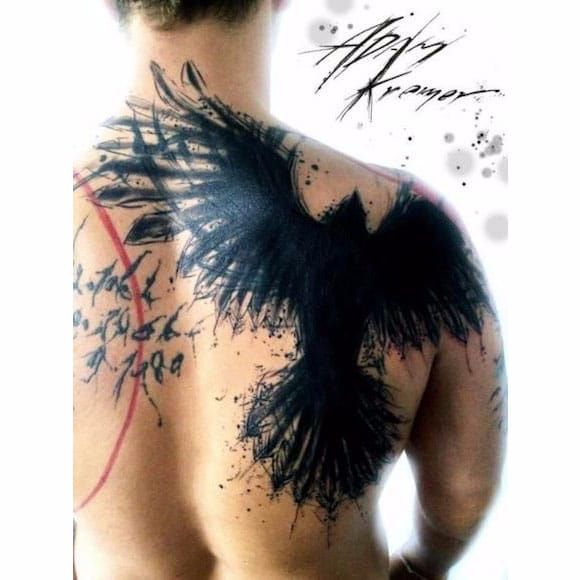 Por Adam Kremer! #AdamKremer #Corvo #Crown #CorvoTattoo #crowntattoo #RavenTattoo #TrashTattoo