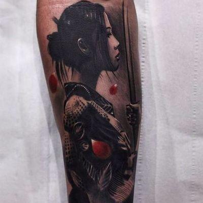 Trabalho do artista Silvano Fiato! #SilvanoFiato #gueixa #gueixatattoo #geisha #geishatattoo #blackandgrey #blackandgreytattoo #pretoecinza #pretoecinzatattoo