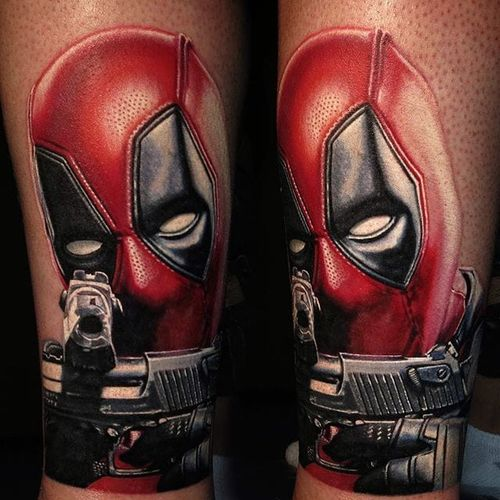 I'm glad I wore my brown pants, because holy shit, this portrait of Deadpool by Nikko Hurtado is too good. #color #Dealpool #NikkoHurtado #portraiture #realism