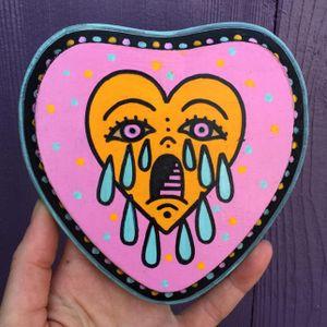 Neon crying heart #ChristinaHock #art #neon #heart #cryingheart