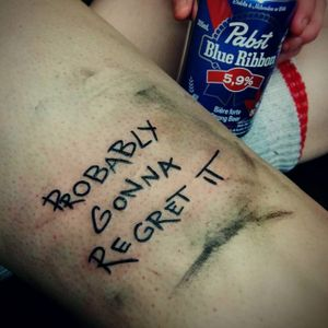Haha love this tattoo by Camille Lespérance #CamilleLespérance #tattooregrets (Photo: Instagram)