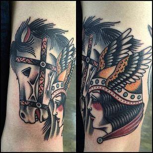 Valkyrie Tattoo by Seung Won Kim #ValkyrieTattoo #Valkyrie #NorseMythology #NorseTattoos #NordicTattoo #SeungWonKim