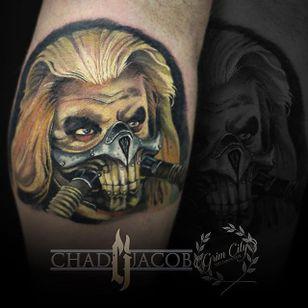Immortan Joe Tattoo by Chad Jacob #ImmortanJoe #Portrait #ColorPortrait #PortraitTattoos #ColorRealism #ChadJacob #ImmortanJoe
