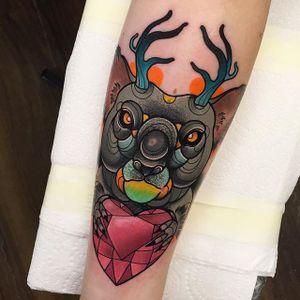 Koala Tattoo by Piotr Gie #NeoTraditional #NeoTraditionalArtist #NeoTraditionalTattoos #ModernTattoos #BoldTattoos #PiotrGie