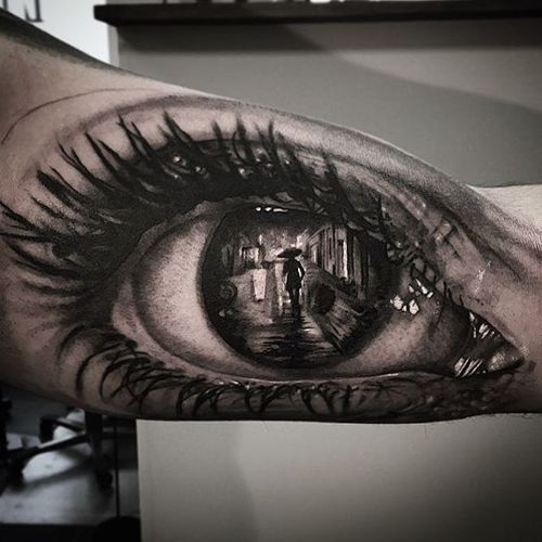 Eye Tattoo by Andy Blanco #eye #eyetattoo #blackandgrey #blackandgreytattoo #blackandgreytattoos #realism #realismtattoo #AndyBlanco #realisticeye