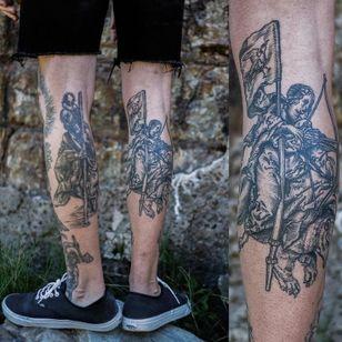 Engraving tattoos by MxM #MxM #medievalart #engraving