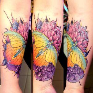 Butterfly. #DustyBrasseur #watercolor #stainedglass #nature #butterfly #flight