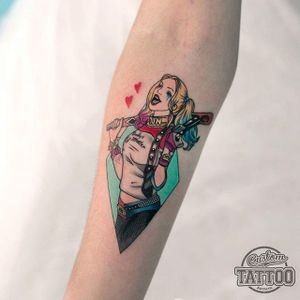 Suicide Squad tattoo by Steve Rieck. #suicidesquad #dc #popculture #comics #film #movie #comic #harleyquinn #graphic