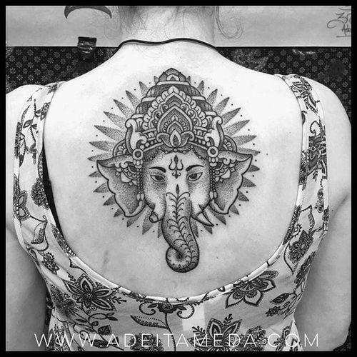 Pretty Ganesh #ganeshtattoo #Indonesiantattoo #AdeItameda