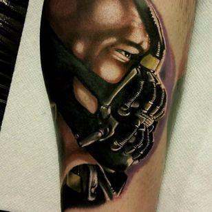 Bane Tattoo by Christopher Bettley #Bane #Portrait #PortraitTattoos #ColorPortraits #PortraitRealism #ChristopherBettley
